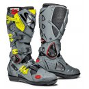 Sidi Crossfire 2 Boots SRS Grey Yellow Fluo