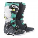 Alpinestars Tech 7 Teal White MX Stiefel