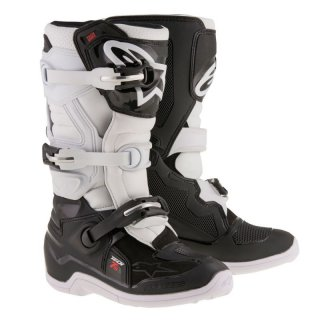 Alpinestars Tech 7 S Kids MX Stiefel Black White