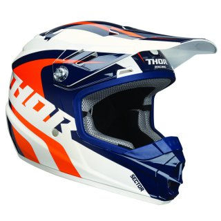 Thor Sector Kids Helm Blue Orange