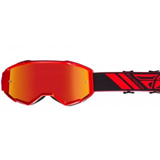 Fly Racing MX Enduro Brille Zone red mirror-smoke