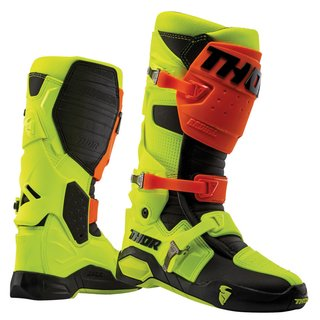 Thor Radial Offroad/MX Gelenk Stiefel Fluo Orange Yellow