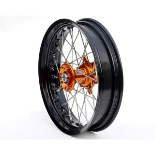 REX Supermoto Rad 17x3.50 KTM / Husqvarna 26MM schwarz-orange