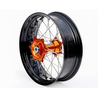 REX Supermoto Rad 17x5.00 KTM / Husqvarna 20MM schwarz-Orange