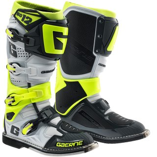 Gaerne SG 12 Stiefel Black White Neon Yellow
