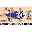 N-style TLD KTM Team Dekor KIT Orange Blau SX-F 16-18