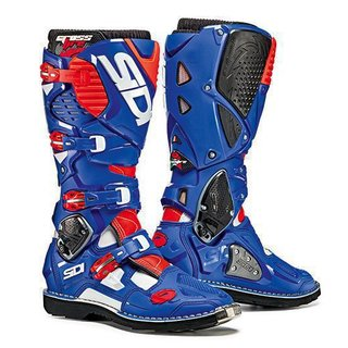 Sidi Crossfire 3 White-Blue-Red Fluo