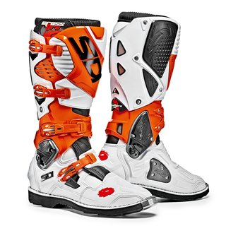 Sidi Crossfire 3 White Orange KTM Edition