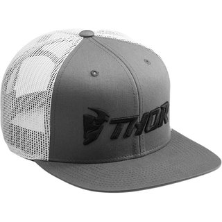 Thor MX Twill Trucker Cap One Size Grey White