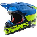Alpinestars Supertech Helm M8 Radium Aqua Yellow