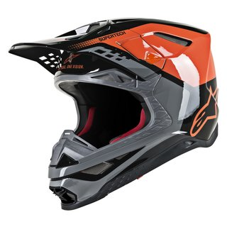 Alpinestars Supertech Helm M8 Black Orange
