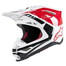 Alpinestars Supertech Helm M8 White Red