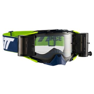 Leatt Velocity 6.5 Goggle MX Roll Off Brille Blue Lime Clear