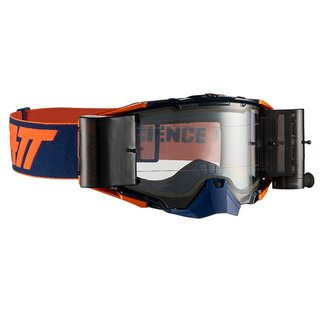 Leatt Velocity 6.5 Goggle MX Roll Off Brille Orange Ink Clear