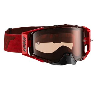 Leatt Velocity 6.5 Goggle MX Brille Ruby Red Clear