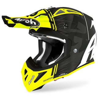 Airoh Aviator Ace MX / Enduro Helm Yellow Kybo