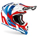 Airoh Aviator Ace MX / Enduro Helm Tric Blue Red