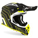 Airoh Aviator Ace MX / Enduro Helm Yellow Black Art