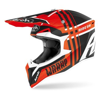 Airoh Wrap MX / Enduro Helm Orange Grey