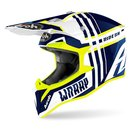 Airoh Wrap MX / Enduro Helm Yellow Blue Husky