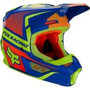 Fox V1 Kids Helm Oktiv Blue 2021