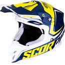 Scorpion VX-16 Air Ernee Motocross Helm Blau Gelb
