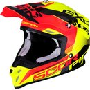 Scorpion VX-16 Air Arhus Motocross Helm Rot Gelb Fluo