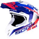 Scorpion VX-16 Air Arhus Motocross Helm Blau Rot Weiss