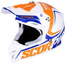 Scorpion VX-16 Air Ernee Motocross Helm Blau weiss