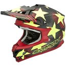 Scorpion VX-15 Air Star Motocross Helm Red Yellow