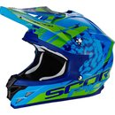 Scorpion VX-15 Air KT Motocross Helm Green Blue