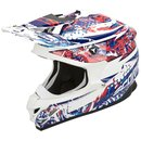 Scorpion VX-15 Air HR Motocross Helm White Blue Red