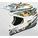 Scorpion VX-15 Air HR Motocross Helm White Blue Orange