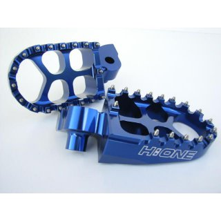 H:ONE Fussrasten Spike Honda blau CR 125-250-500 Bj. 95-99